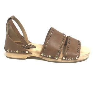 Free People North Shore Clog Cedar Brown Stud